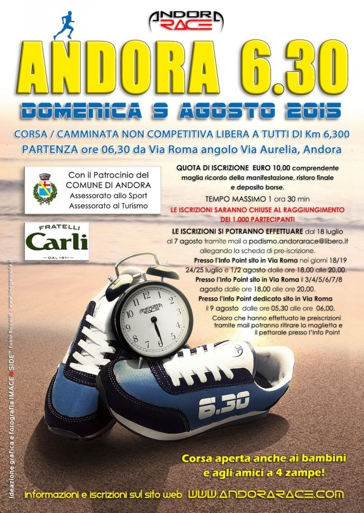 ANDORA 6.30 Corsa/camminata non competitiva di Km. 6,300